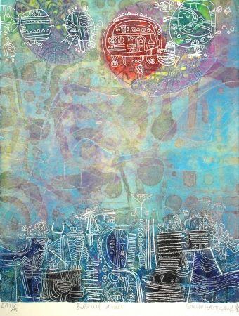 Офорт И Аквитанта Hasegawa - Entre ciel et mer