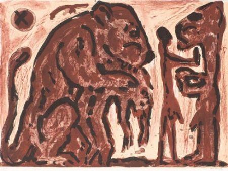 Литография Penck - Erinnerung unbekannt