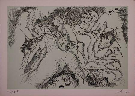 Офорт Baj - Erotica III