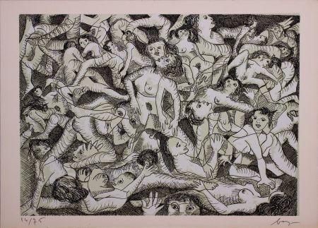 Офорт Baj - Erotica VIII