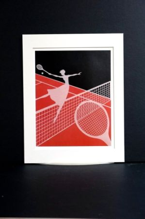 Сериграфия Erte - Erte - A Limited edition screen print after the Love and Tennis suite