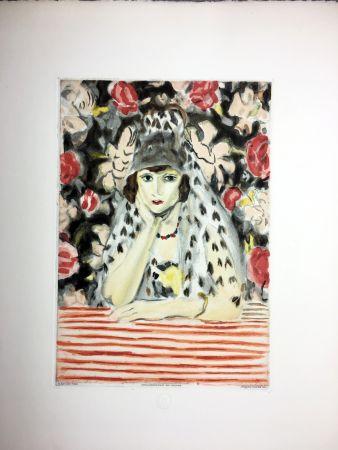 Офорт И Аквитанта Matisse - ESPAGNOLE À LA MANTILLE (1925)