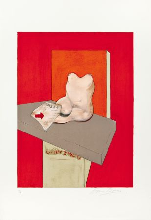 Литография Bacon - Etude de corps humain d'après Ingres