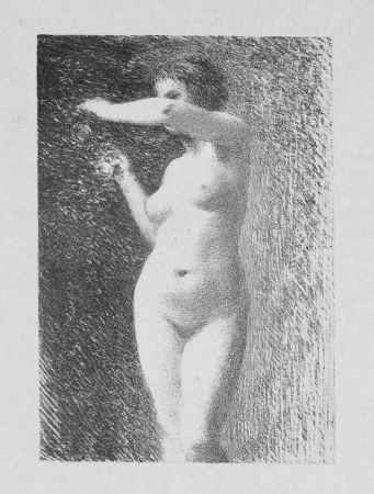 Литография Fantin-Latour - Etude pour Eve