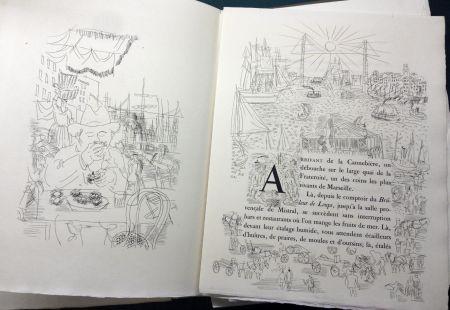 Иллюстрированная Книга Dufy - Eugène Montfort: LA BELLE ENFANT OU L'AMOUR A QUARANTE ANS. 94 eaux-fortes originales de Raoul Dufy (1930).