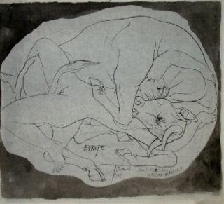 Литография Trémois - Europe et les Metamorphoses