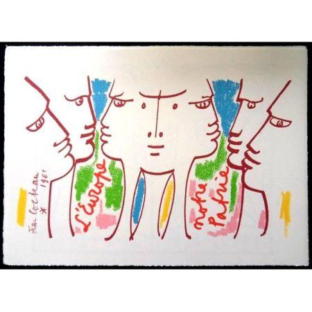 Литография Cocteau - Europe Notre Patrie