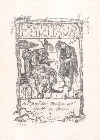 Гравюра Klee - Ex Libris L. Michaud