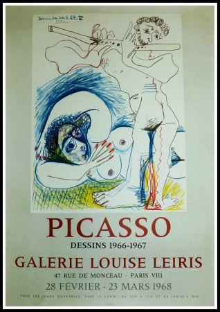 Афиша Picasso - EXPO 1968 GALERIE LOUISE LEIRIS