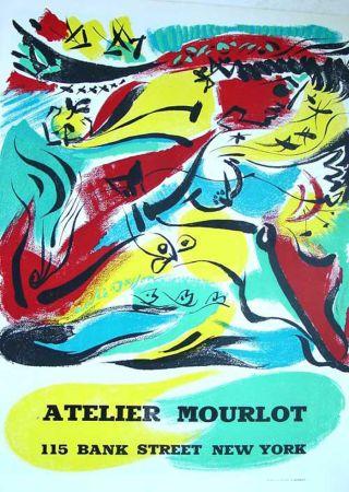 Литография Masson - '' Exposition chez Mourlot NYC ''