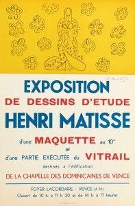 Литография Matisse - Exposition de dessins d'étude ,Vence