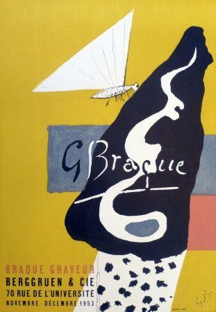 Литография Braque - Exposition galerie Berggruen 1953