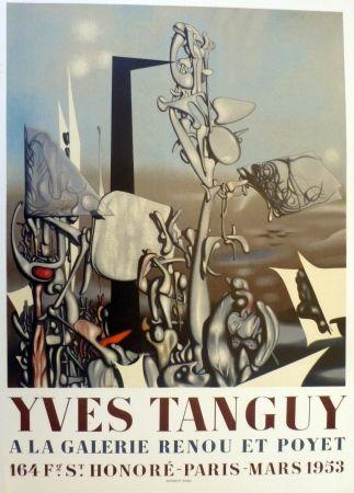 Литография Tanguy - Exposition galerie Renou et Poyet 1953