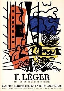 Литография Leger - Exposition Louise Leiris 1958