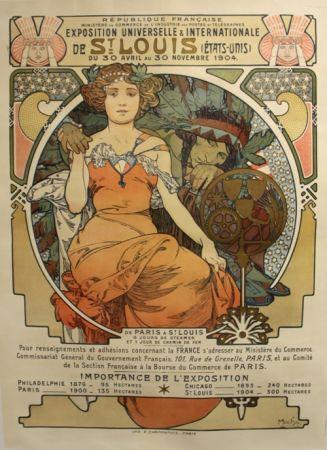 Литография Mucha - Exposition Universelle et Internationale  St Louis USA