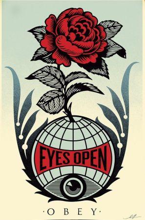 Литография Fairey - Eyes Open