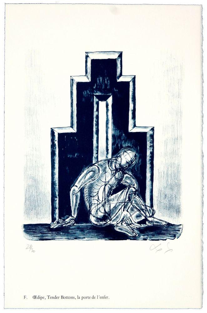 Литография Nørgaard - F. Œdipe, Tender Bottoms, la porte de l'enfer.