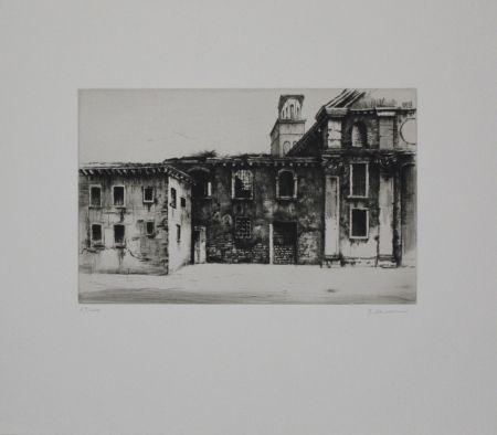 Гравюра Schwermer - Fabrikgebäude