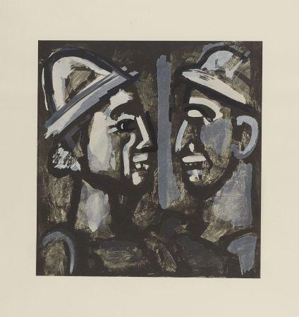 Литография Rouault - FACE A FACE, 1933