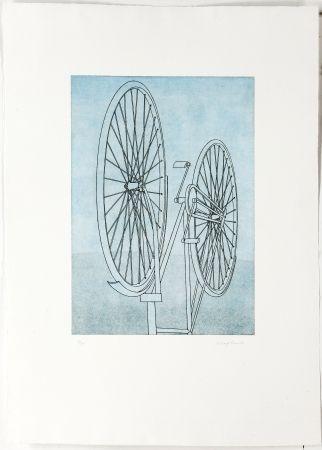 Гравюра Klapheck - Fahrrad Ii - Die Fragwürdigkeit Des Ruhms (The Dubiousness Of Fame - Le Caractère Douteux De La Renommée)
