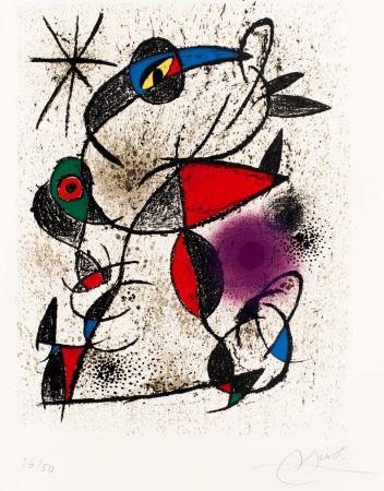 Литография Miró -  Faillie du calcaire