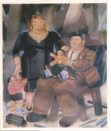 Литография Botero - Familia