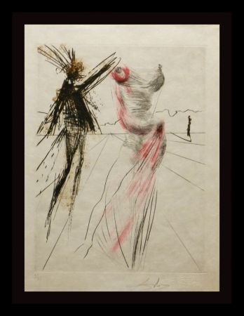 Гравюра Dali - Faust Buste