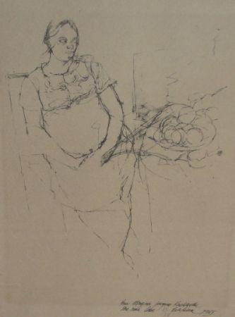 Литография Szafran - Femme à la coupe de fruits