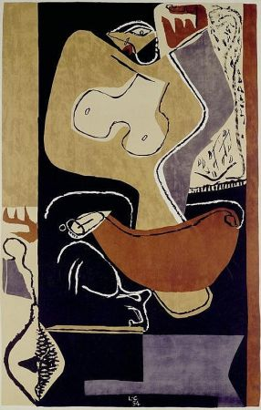Литография Le Corbusier - Femme à la main levée –1st edition