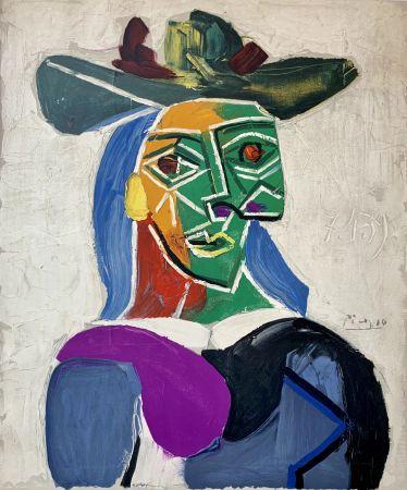 Литография Picasso - Femme au Chapeau