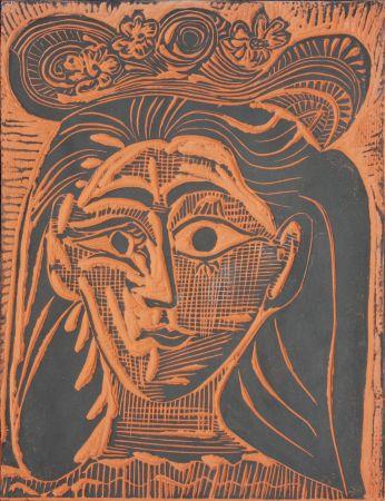 Керамика Picasso - Femme au Chapeau Fleuri (A.R. 521)