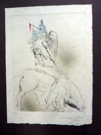 Гравюра Сухой Иглой Dali - Femme au Cochon (Faust)