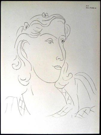 Литография Matisse - Femme avec Fleurs dans ses Cheveux