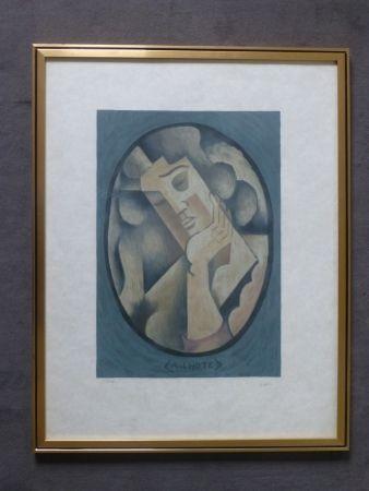 Литография Lhote - Femme cubiste pensive