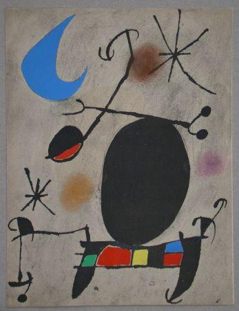 Трафарет Miró - Femme dans la nuit