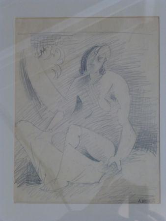 Нет Никаких Технических Lhote - Femme nue assise au palmier