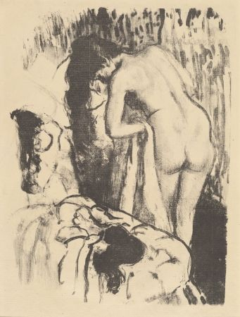 Литография Degas - Femme nue debout à sa toilette / Standing Nude Woman, Drying Herself