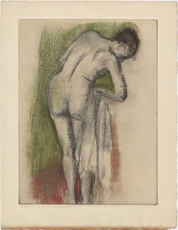 Офорт И Аквитанта Degas - Femme nue debout à sa toilette (vers 1880-1890)
