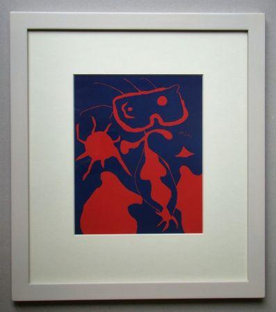 Линогравюра Miró - Femme pour XXe Siècle