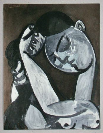 Трафарет Picasso - Femme se coiffant