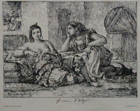 Литография Delacroix - Femmes d`Algers
