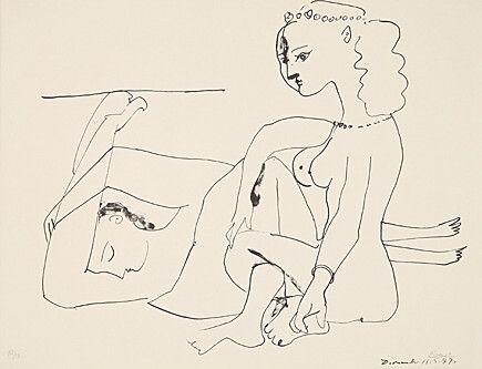 Литография Picasso - Femmes Sur La Plage