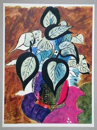 Литография Braque (After) - Feuillage en couleurs