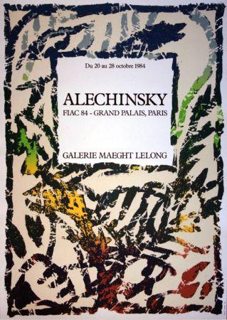 Литография Alechinsky - '' FIAC 84 ''