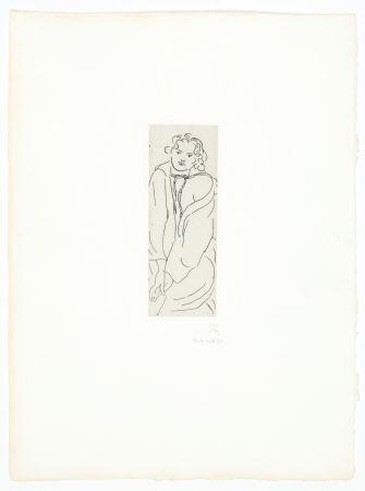 Гравюра Matisse - Figure au peignoir