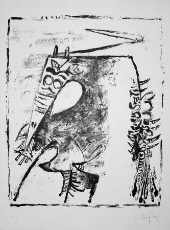 Литография Lam - Figure blanche et noire (White and Black Figure)