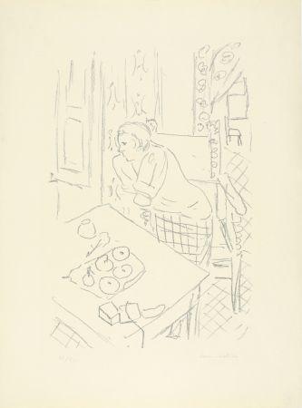Литография Matisse - Figure dans un intérieur
