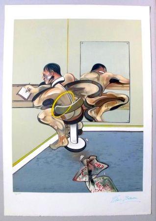 Литография Bacon - Figure Writing Reflected In A Mirror
