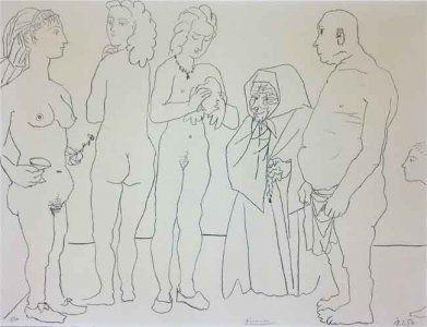 Литография Picasso - Figures and dove