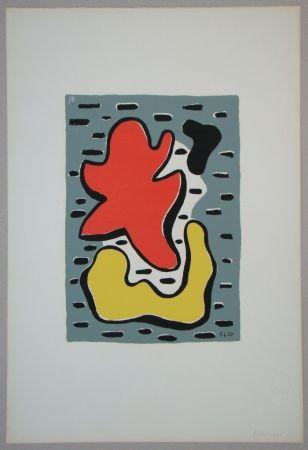 Сериграфия Leger - Figures rouge et jaune, 1950